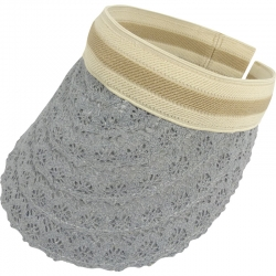 Suncap Lace Aliceband Stripe Grey