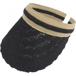 Suncap Lace Aliceband Stripe Black