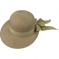 Hat off-center linnen belt 57cm beige/brown