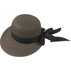 Hat off-center linnen belt 57cm brown/black