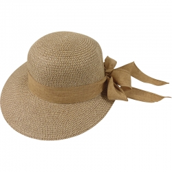 Hat off-center linnen belt 57cm brown tones