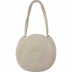 Beach Bag Cord Round Light Beige
