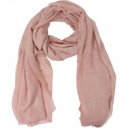 Scarf Plain 100% Viscose 90x180cm Old Pink