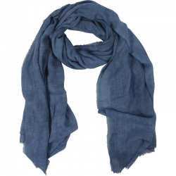 Scarf Plain 100% Viscose 90x180cm Navy