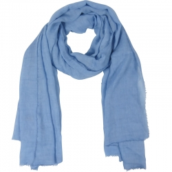 Scarf Plain 100% Viscose 90x180cm Light Blue
