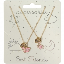 Kindercollier Best Friends Flamingo Goud