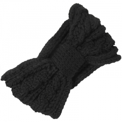 Headband Knitted Cable Pattern Black