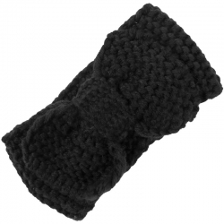 Children's Headband Knitted Bow Black