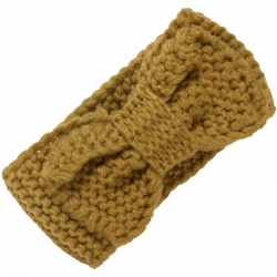 Children's Headband Knitted Bow Ochre