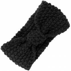 Headband Knitted Black