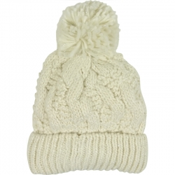 Children's Hat Knitted Lurex White