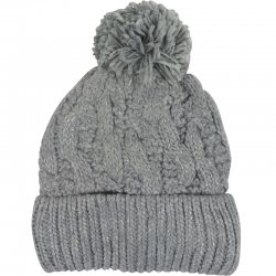 Children's Hat Knitted Lurex Grey