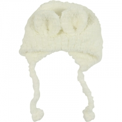 Children's Hat Teddy Ears White
