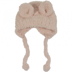 Children's Hat Teddy Ears Pink