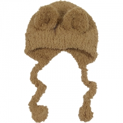 Children's Hat Teddy Ears Brown