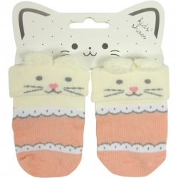 Baby Socks Mouse Old Pink