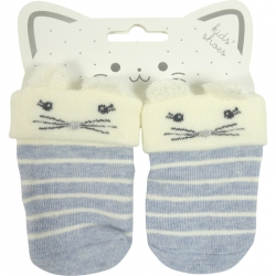 Baby Socks Mouse Striped Blue