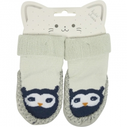Baby Shoes Owl Blue