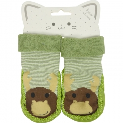 Baby Shoes Monkey Green