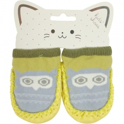 Baby Shoes Owl Yellow