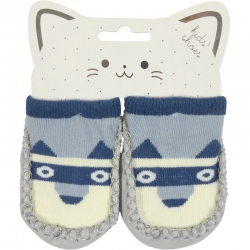Baby Shoes Dog Blue