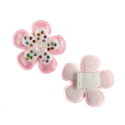 Velcro bloemetje steentjes